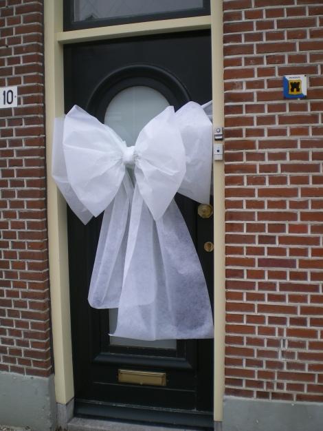 Strik op de voordeur voor je trouwdag