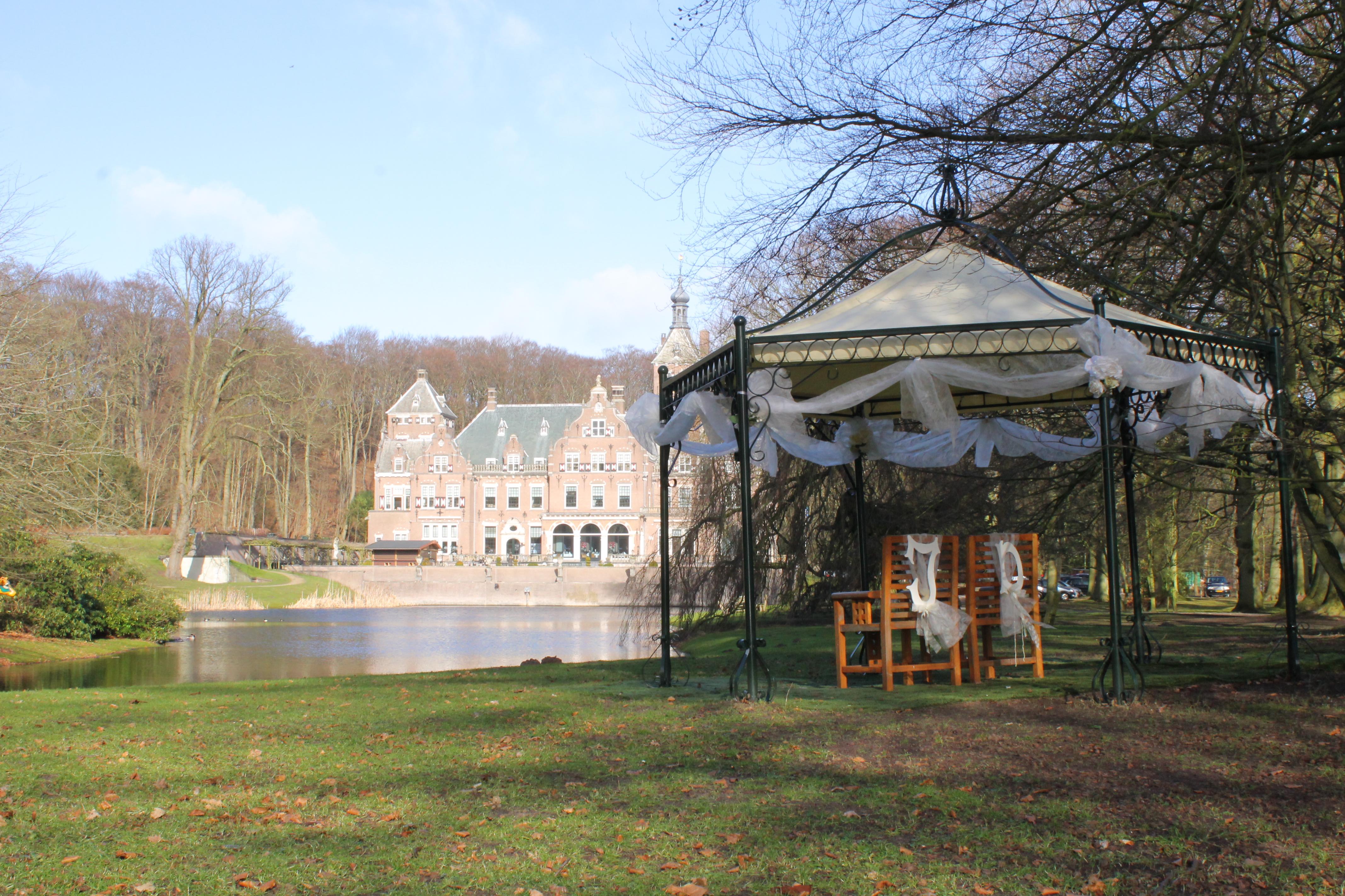 Landgoed met stijlkamers in klassieke sfeer de feesttuin - Prieel buiten ...